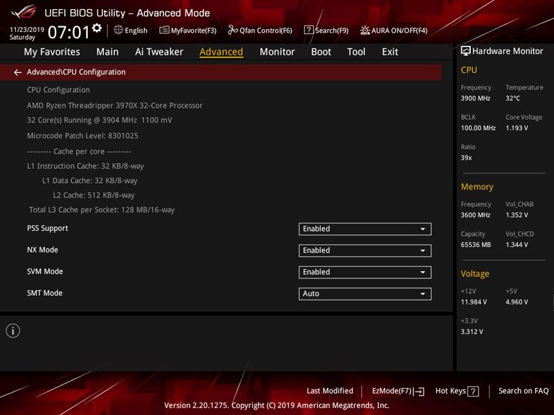 ASUS ROG Zenith II Extreme BIOS 4