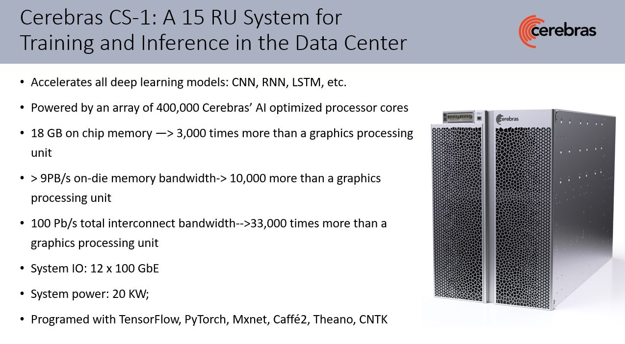 Cerebras CS 1 System Overview