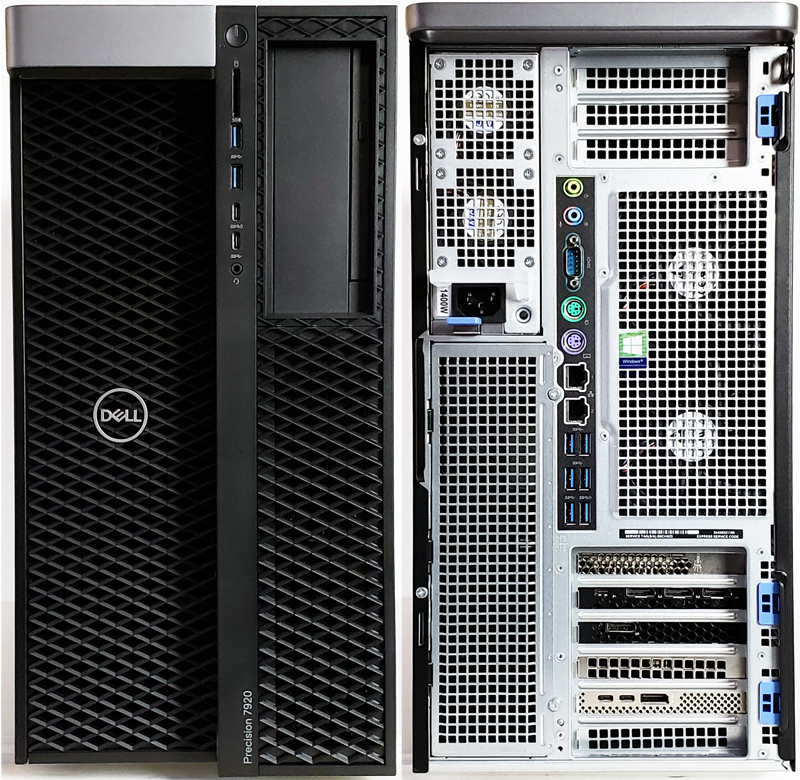 Dell Precision T7920 Workstation Front And Back