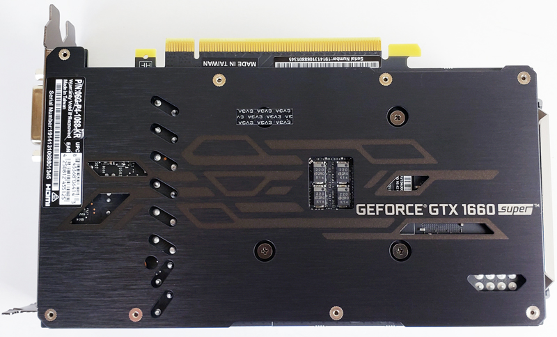 EVGA GTX 1660 SUPER SC ULTRA Back