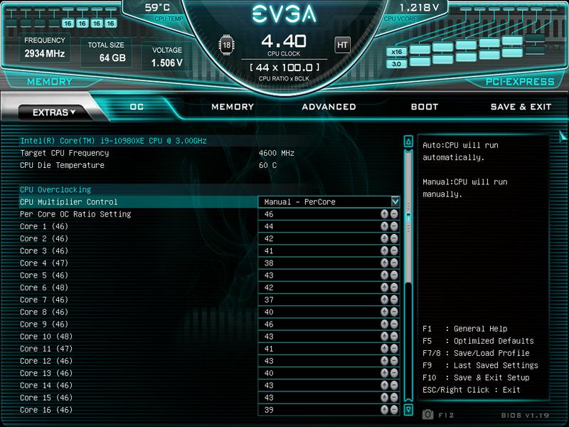 EVGA X299 Dark BIOS OC Robot 2