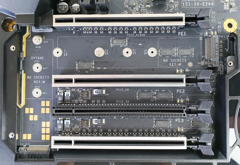 EVGA X299 Dark NVMe M2 Ports