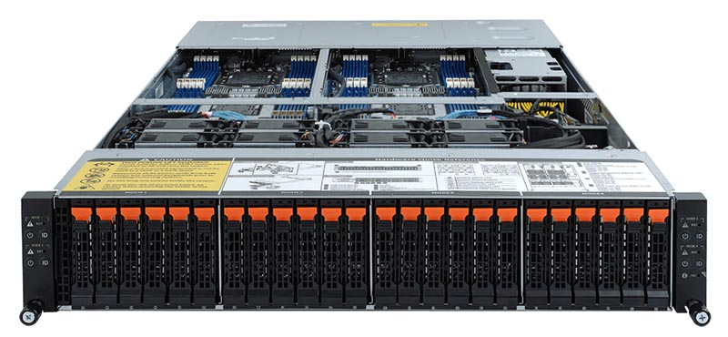 Gigabyte H262 Z62 Front With Other 2U4N Platforms In Rack