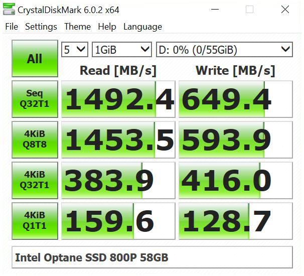 Icy Dock ToughArmor MB601M2K 1B Intel Optane SSD 800P 58GB