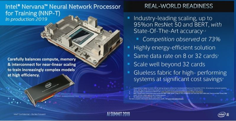 Intel AI Summit 2019 NNP T Efficient