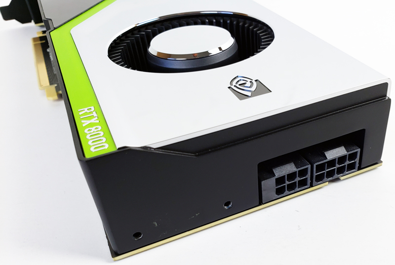 NVIDIA Quadro RTX 8000 Power Connections