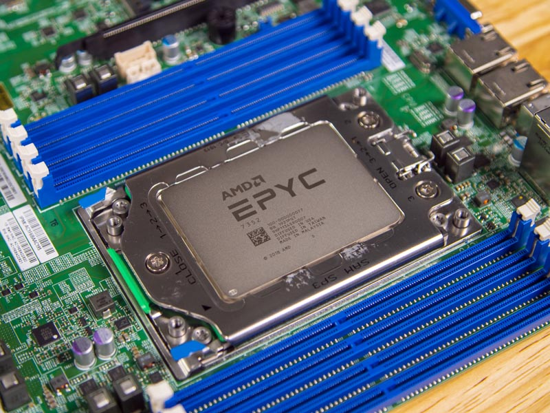 Supermicro H11SSL NC Rev 2 CPU Socket And Memory With EPYC 7352