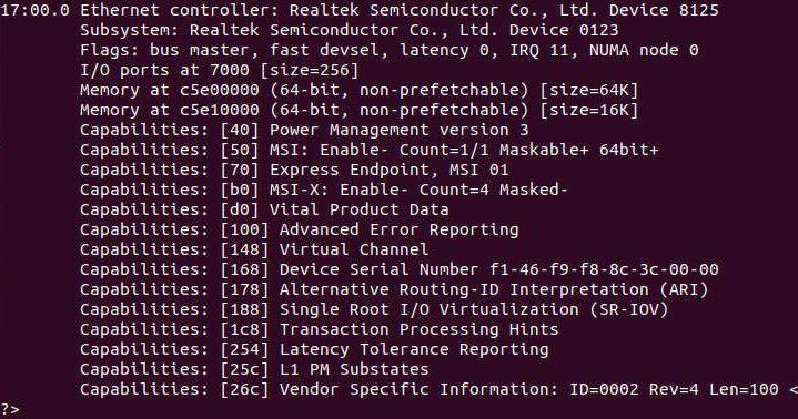 TrendNET 2.5GbE Lspci Ubuntu 19.10