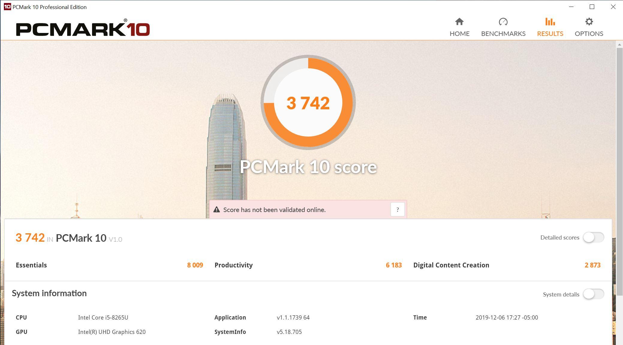 Lenovo ThinkCentre M90n Nano PCMark 10