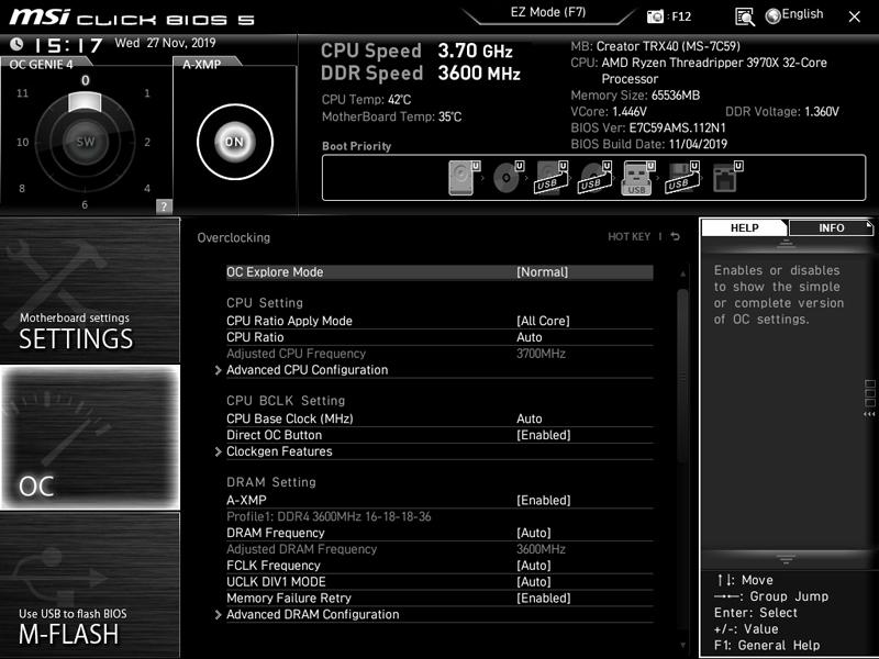 MSI Creator TRX40 BIOS 5