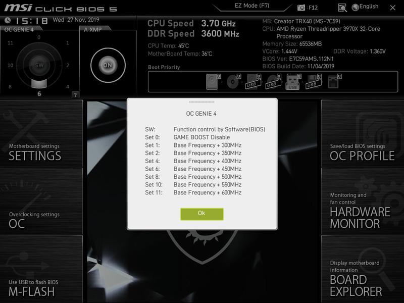 MSI Creator TRX40 BIOS 8