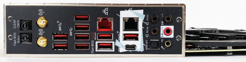 MSI Creator TRX40 Back IO Ports