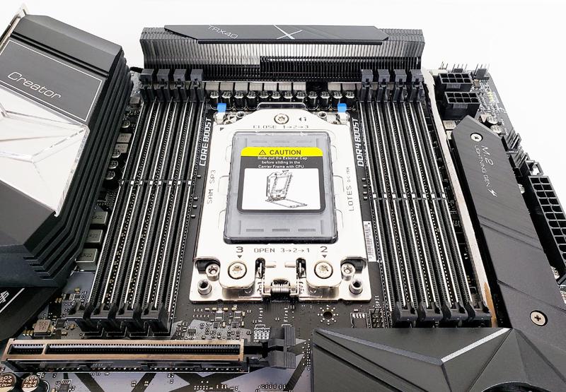 MSI Creator TRX40 CPU And RAM Slots