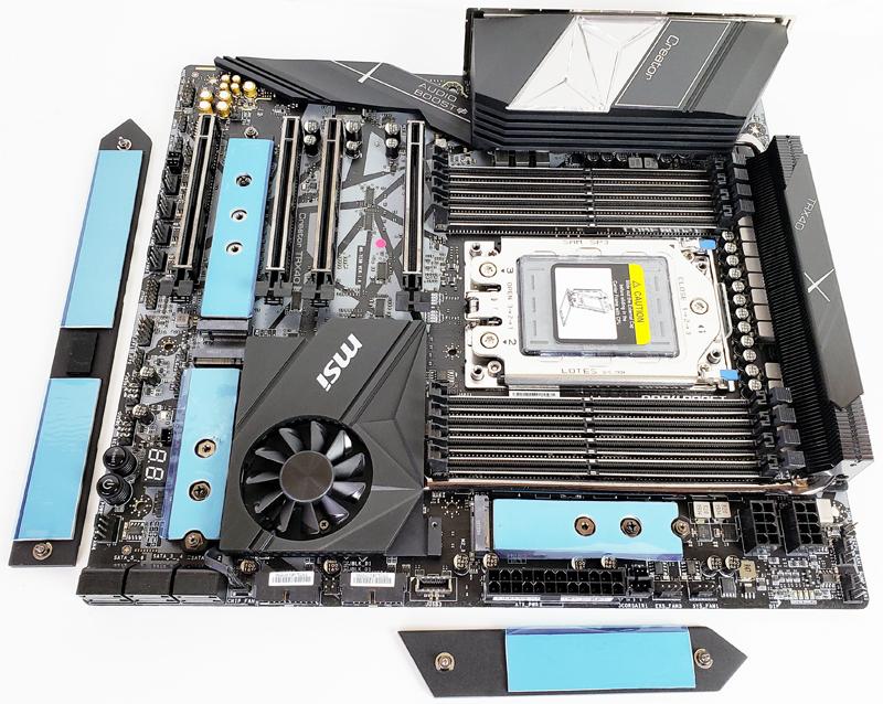 MSI Creator TRX40 M.2 Slots