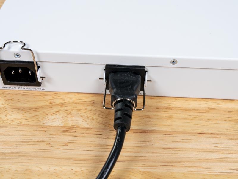 MikroTik CRS326 24S 2Q RM Locking Power Supply Ports