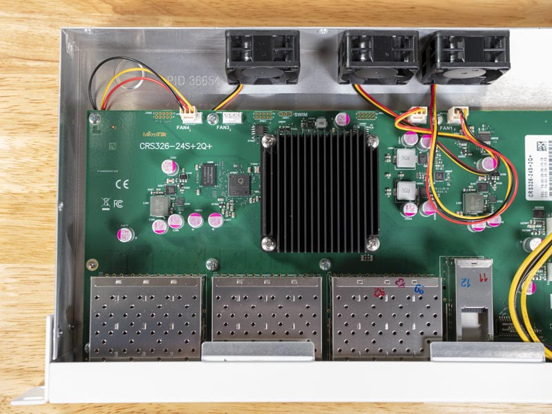 MikroTik CRS326 24S 2Q RM Motherboard And Fan Headers