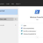 Start Windows 10 PowerShell As Administrator