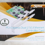 Syba PCI Express Dual 2.5G Etherenet Controller Card 1 Ports Box