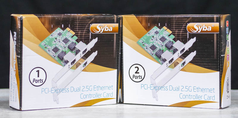 Syba 2.5GbE Single Port Adapter Backside View