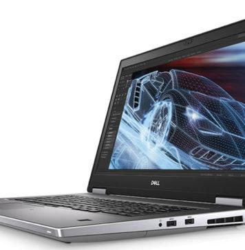 Dell Precision 7540 Xeon ECC RAM Angle View