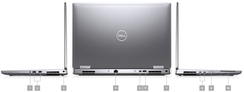 Dell Precision 7540 Xeon ECC RAM IO Ports