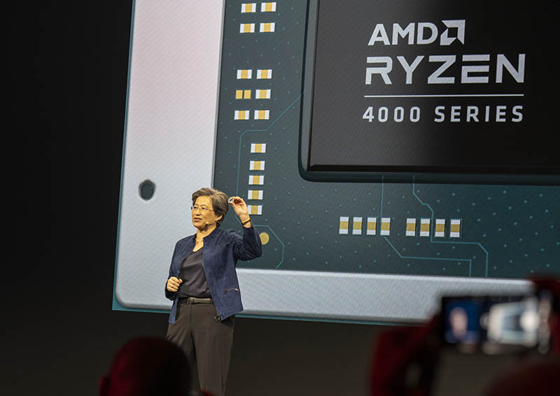 Dr Lisa Su With AMD Ryzen 4000 Mobile