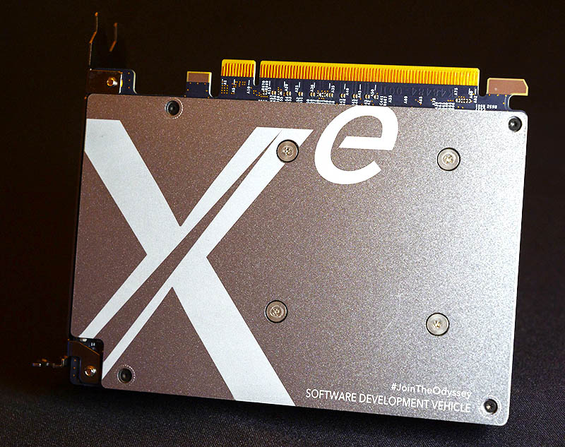 Intel Xe DG1 Back View