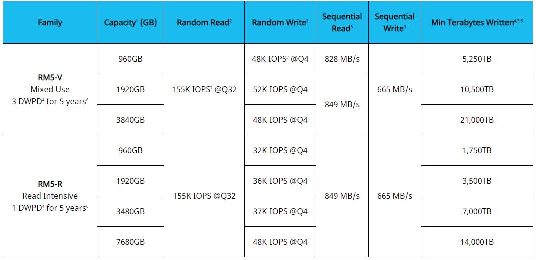 Kioxia RM5 Performance HPE
