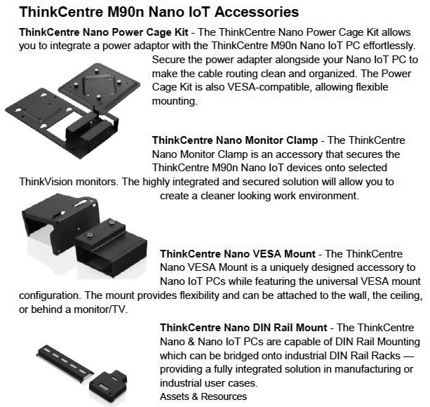 Lenovo ThinkCentre M90n Nano IoT Accessories