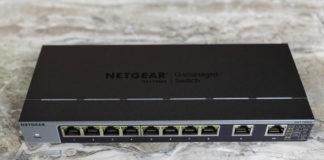 Netgear GS110MX Top Port View
