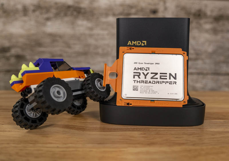AMD Ryzen Threadripper 3990X Front With Lego Monster Truck
