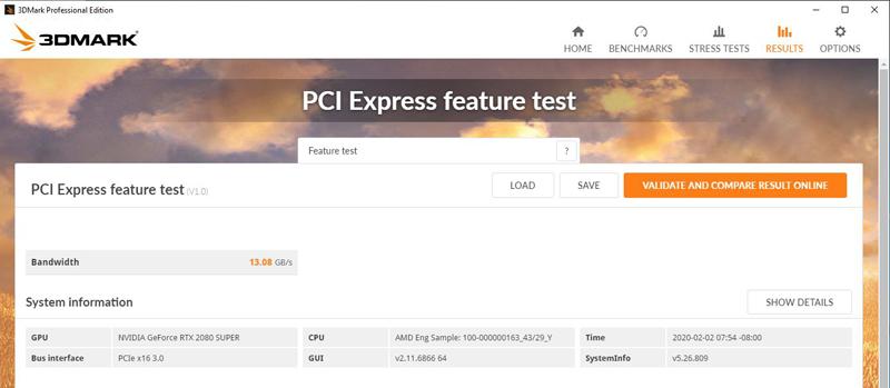 AMD Threadripper 3990x PCI Express Feature Test