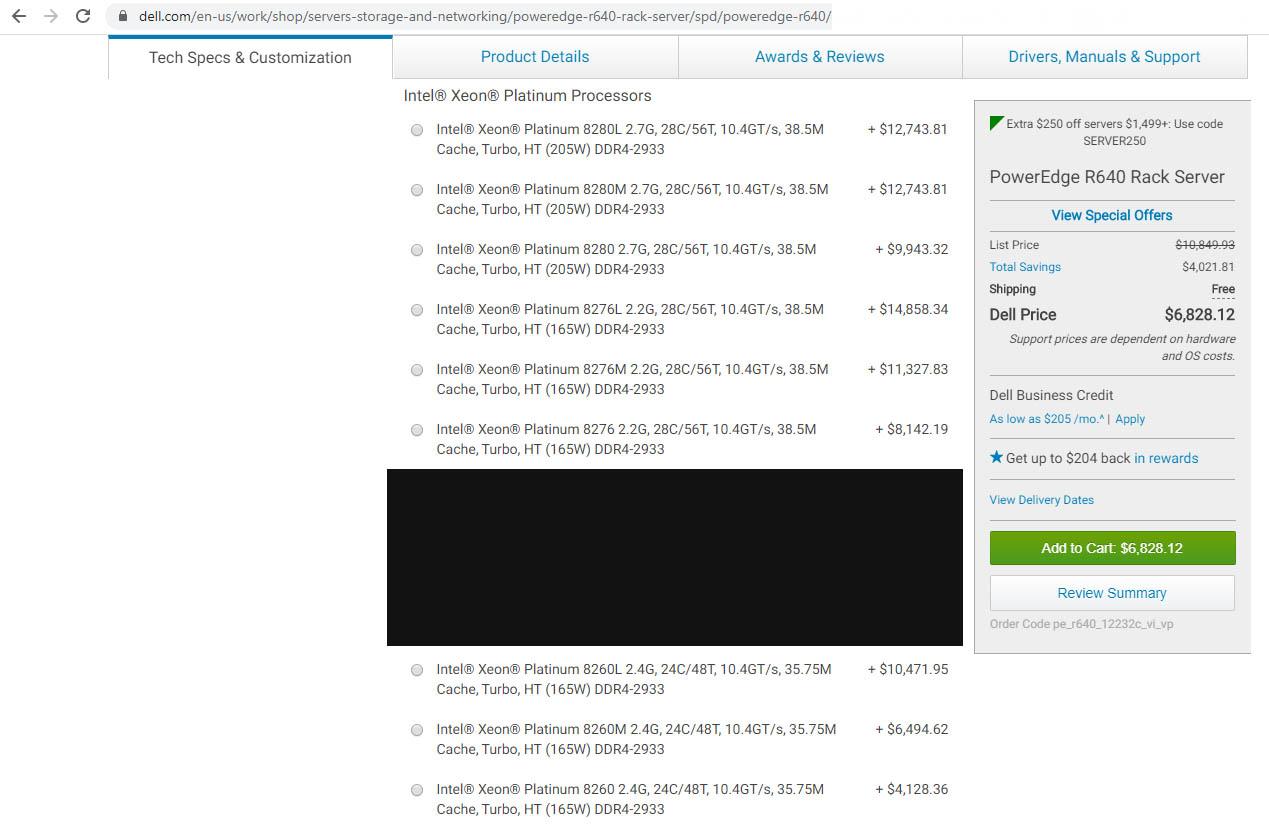Dell EMC PowerEdge R640 M SKUs Available And L SKUs At A Premium 2020 02 23