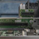 HPE ProLiant MicroServer Gen10 Plus PCIe And ILO Riser Installed