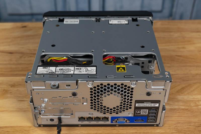 HPE ProLiant MicroServer Gen10 Plus Rear Top Removed