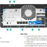 HPE ProLiant MicroServer Gen10 Rear View