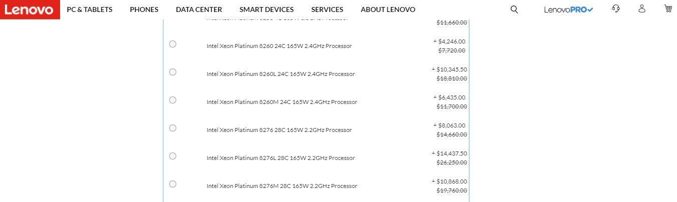 Lenovo ThinkSystem SR650 M SKUs Available And L SKUs At A Premium 2020 02 23