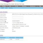 Netgear MS510TX Dashboard
