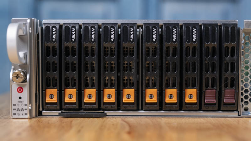 Supermicro 2049P TN8R Front Storage