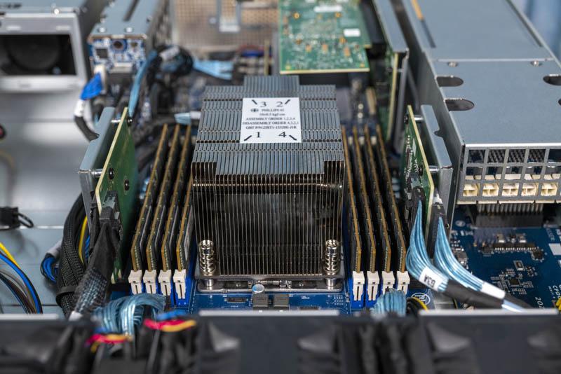 Gigabyte G242 Z10 AMD EPYC Heatsink And RAM