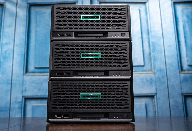 HPE ProLiant MicroServer Gen10 Plus 3 Node Cluster
