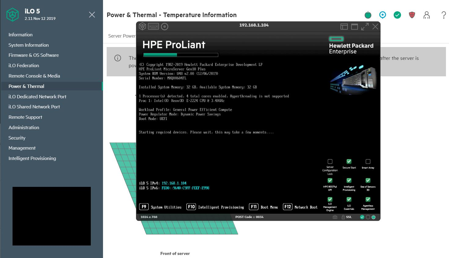 HPE ProLiant MicroServer Gen10 Plus ILO 5 IKVM With Remote Media