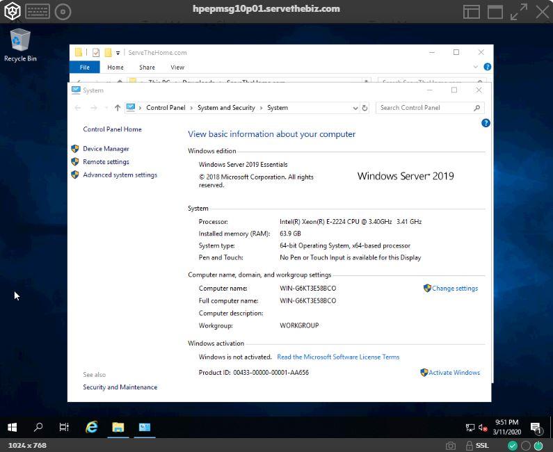 HPE ProLiant MicroServer Gen10 Plus With 64GB Memory 2x 32GB