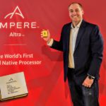Patrick With Ampere Altra 80 Core In Hand At Ampere HQ