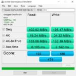 Seagate One Touch 500GB USB 3.0 AS SSD Benchmark