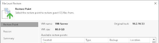 Restore Files