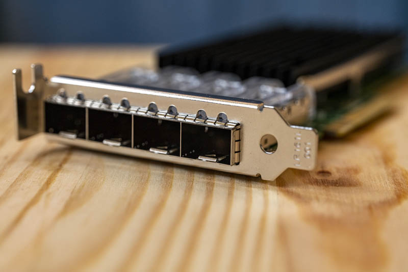 3rd Party Intel X710 DA4 NIC Ports LP Bracket
