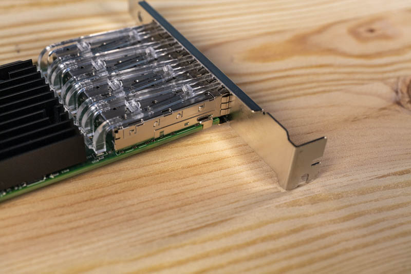 3rd Party Intel X710 DA4 NIC Top Bracket