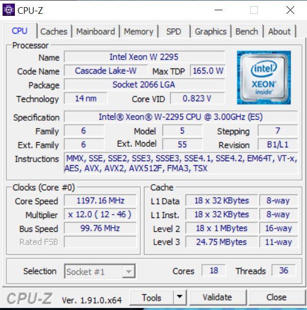BOXX APEXX W3 Class Intel Xeon W2295 18 Core