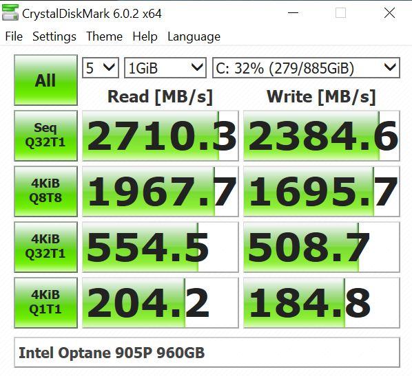 BOXX APEXX W3 Class Workstation CrystalDiskMark